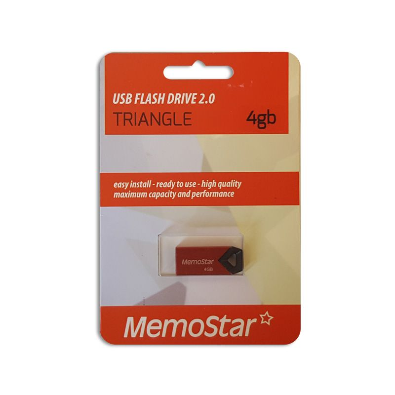 Usb flash disk Memostar Triangle 4GB, crveni