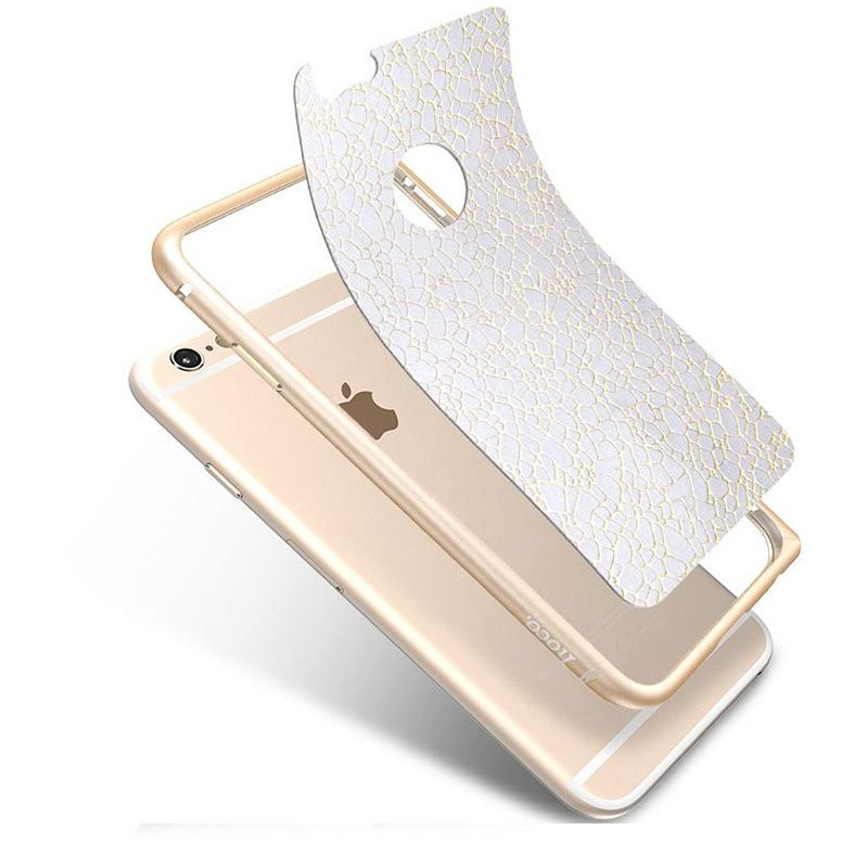 Hoco Bumper sa kožnim leđima blade series leather za iPhone 6 Plus/6s Plus, zlatni