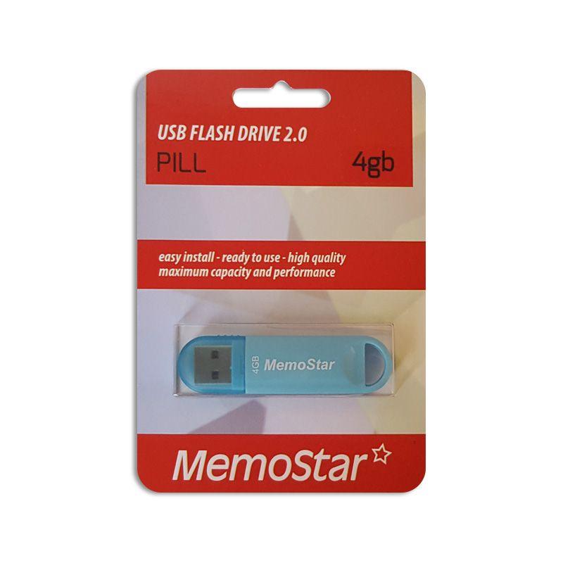 Usb Flash disk Memostar Pill 4GB, plavi