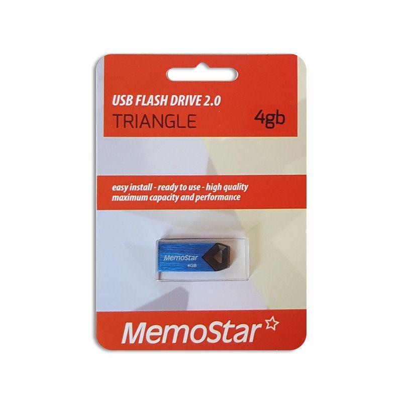 Usb flash disk Memostar Triangle 4GB, plavi