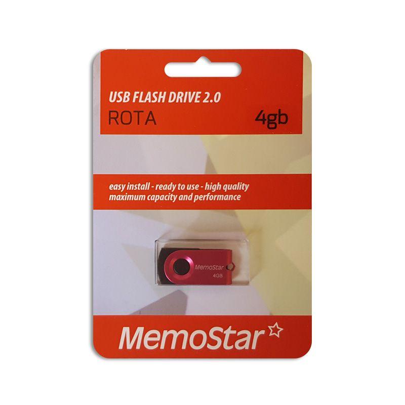Usb Flash disk Memostar Rota 4GB, pink