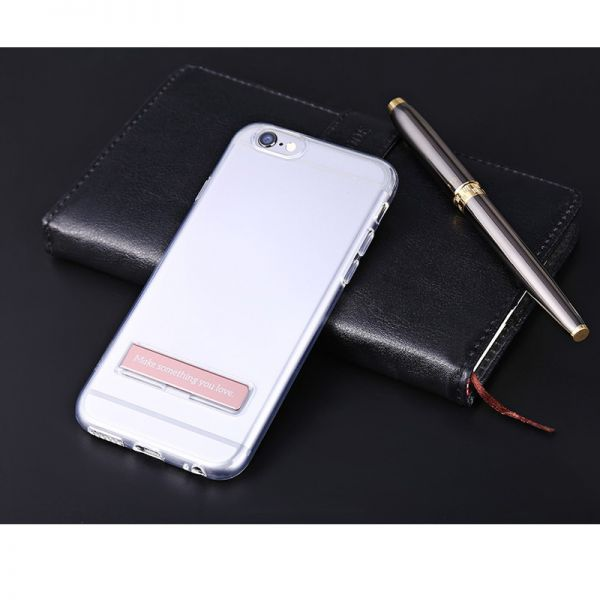 Hoco Futrola magnetic shock proof bracket Tpu za iPhone 6/6s, srebrna