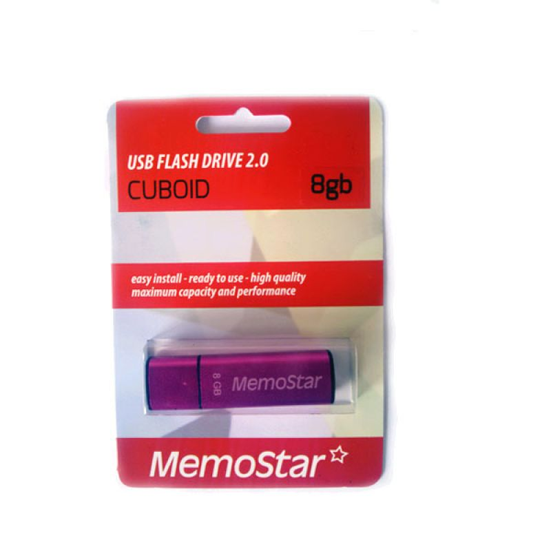 Usb flash disk Memostar Cuboid 8GB, pink