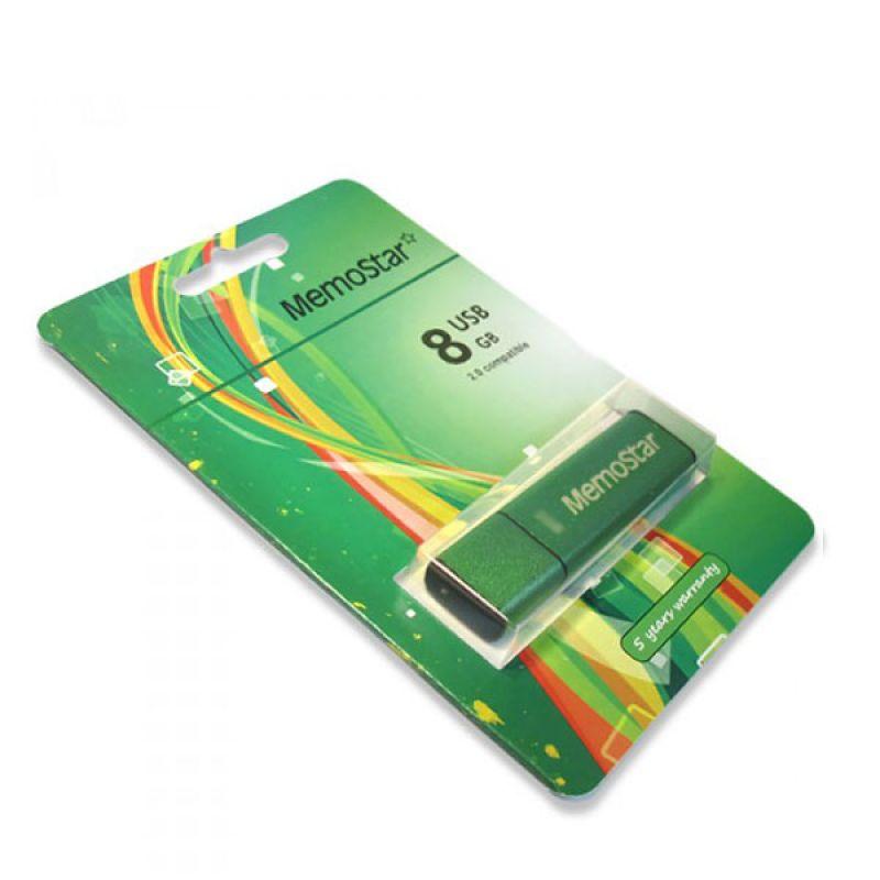 Usb flash disk Memostar Cuboid 8GB, zeleni