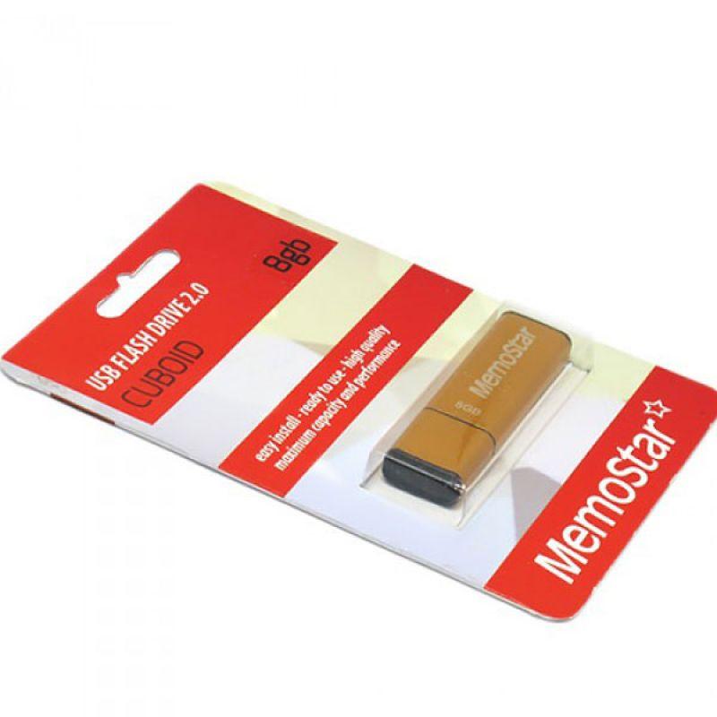 Usb flash disk Memostar Cuboid 8GB, narandzasti