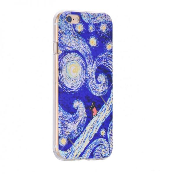 Hoco futrola supper series colorful printed Tpu holder for iPhone 6/6s starry sky