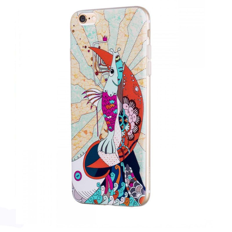 Hoco futrola element series Mythology printed case za iPhone 6/6s mermaid, bela