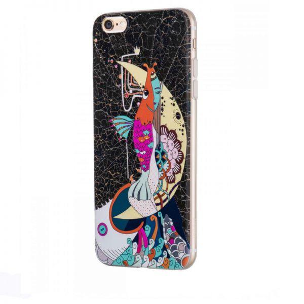 Hoco futrola element series Mythology printed case za iPhone 6/6s mermaid, crna