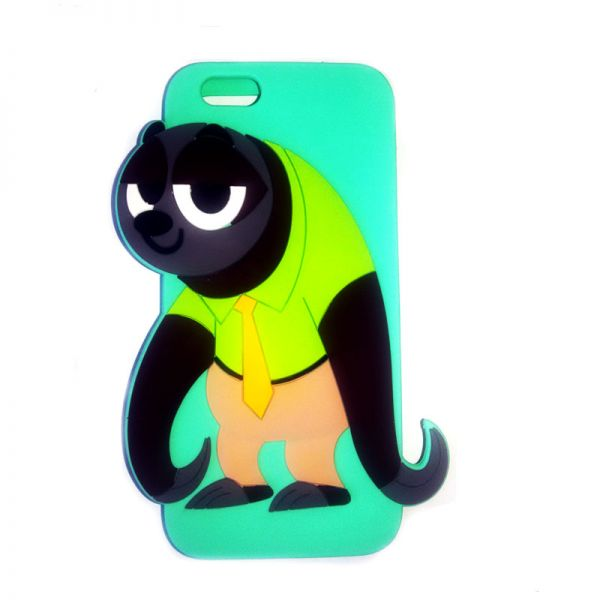 Futrola Gumena za iPhone 6/6s panda, mint zelena
