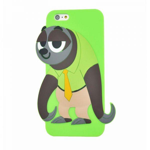 Futrola Gumena za iPhone 6/6s panda, zelena