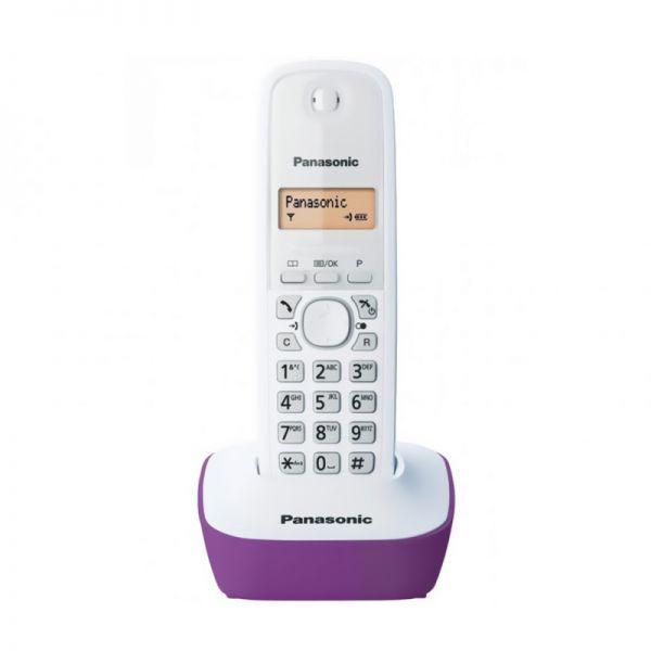 Bežični telefon Panasonic DECT KX-TG1611FXF, ljubičasti