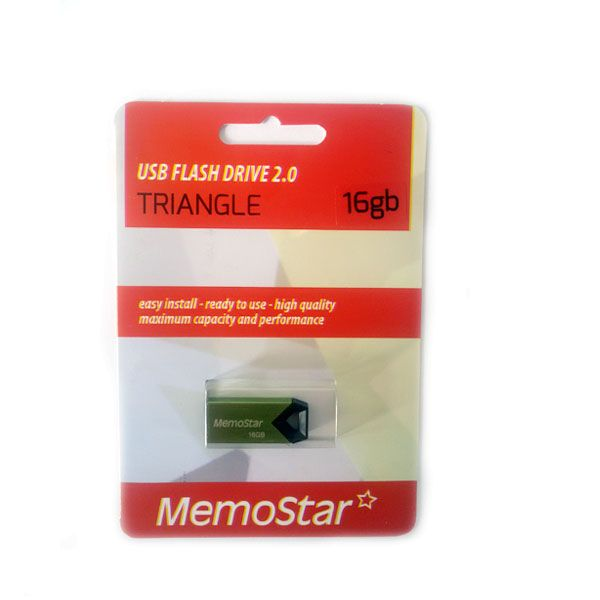 Usb Flash disk Memostar Triangle 16GB, zeleni