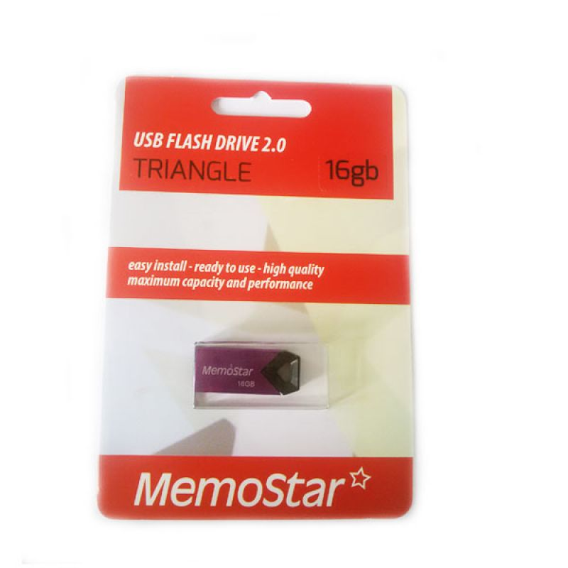 Usb Flash disk Memostar Triangle 16GB, ljubičasti