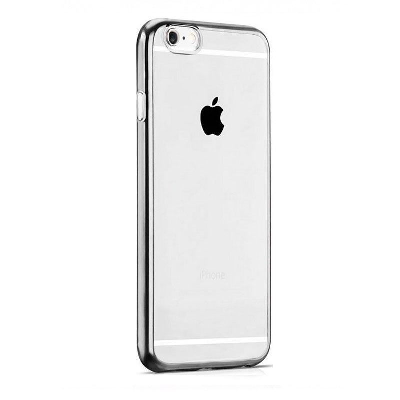 Hoco futrola black series Glint plating tpu case za iPhone 6/6s, srebrna