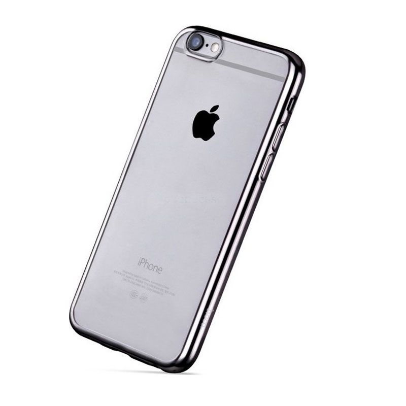 Hoco futrola black series Glint plating tpu case za iPhone 6/6s, siva