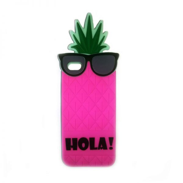 Futrola Gumena za iPhone 5/5s/SE ananas, pink