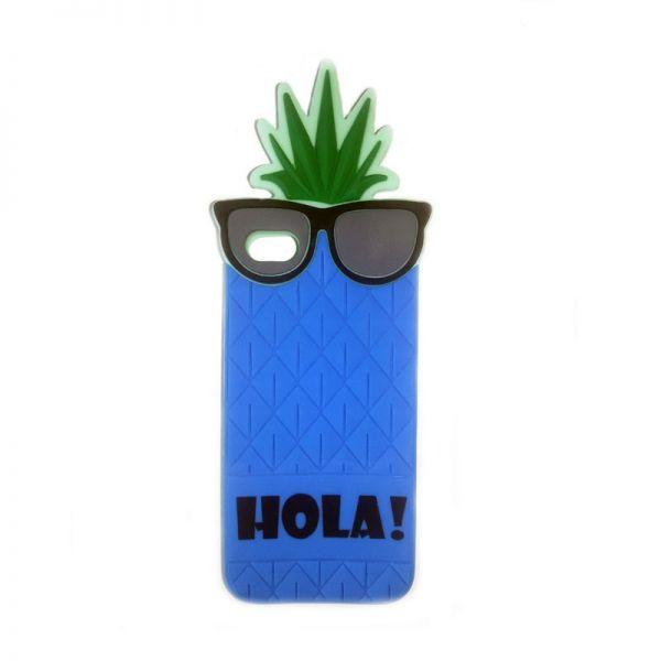 Futrola Gumena za iPhone 5/5s/SE ananas, plava