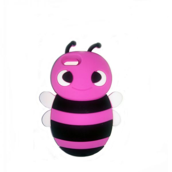 Futrola Gumena za iPhone 5/5s/SE pčelica, pink