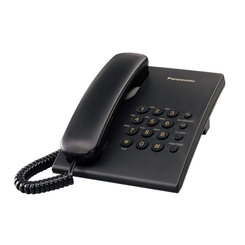 Žični telefon Panasonic KX-TS500FXB, crni