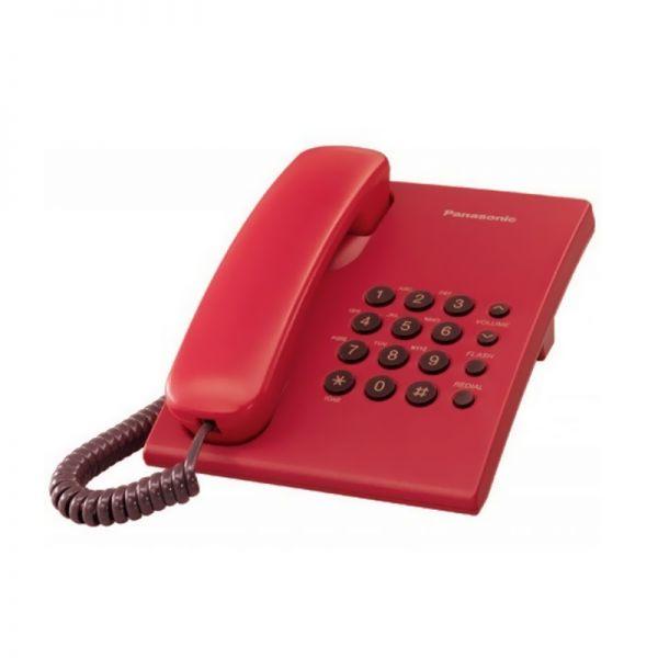 Žični telefon Panasonic KX-TS500FXR, crveni