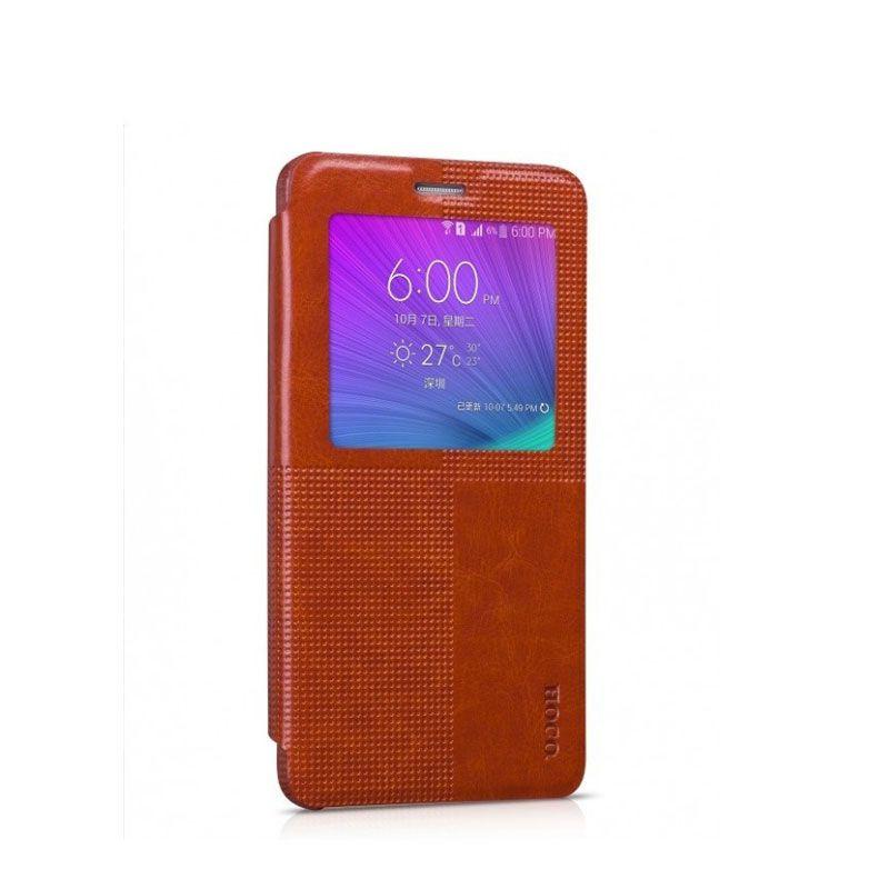 Hoco futrola Crystal fashion series leather case za Samsung N910 Note 4, braon