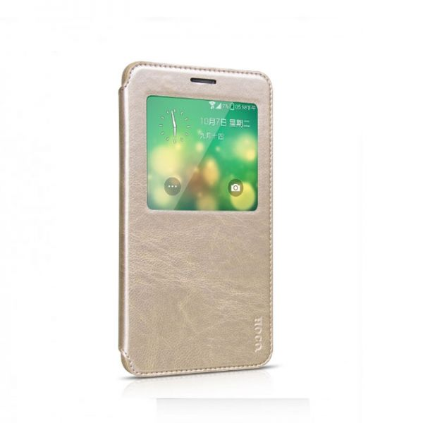 Hoco futrola Crystal fashion series leather case za Samsung N910 Note 4, zlatna