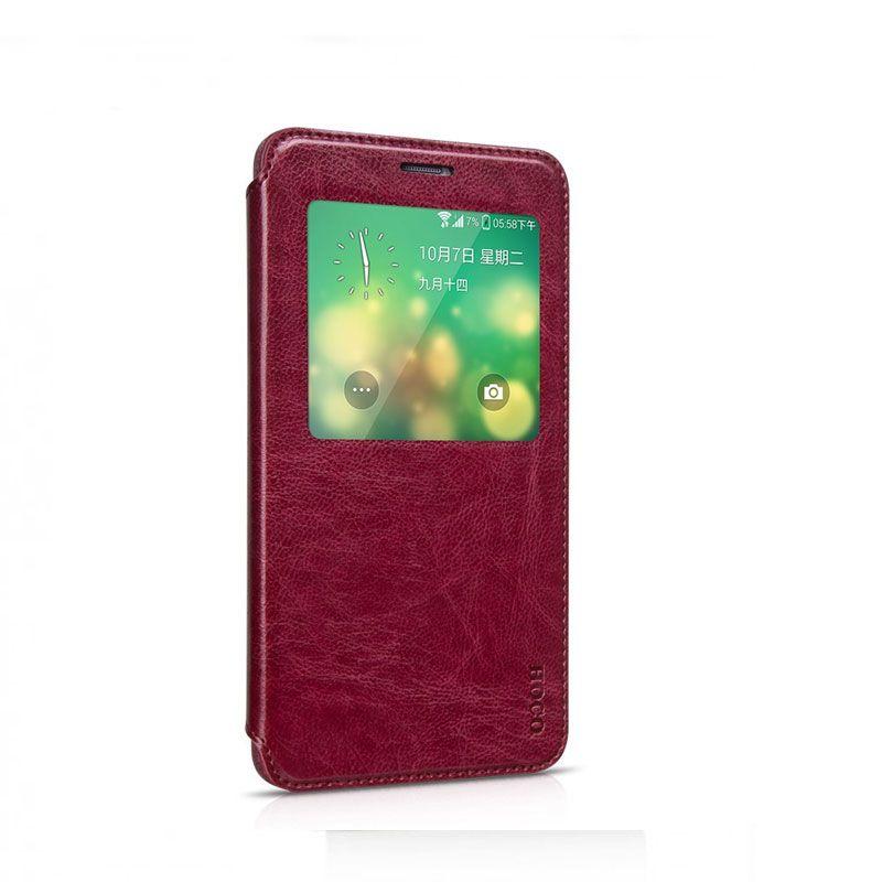 Hoco futrola Crystal classic series leather case za Samsung N910 Note 4, bordo