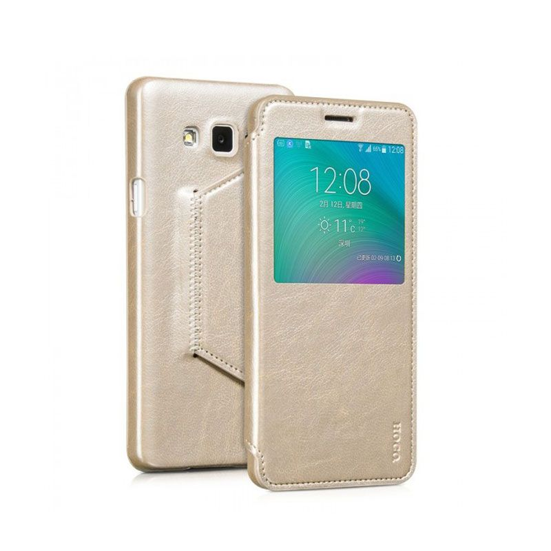 Hoco futrola Crystal fashion series leather case za Samsung A700 A7, zlatna