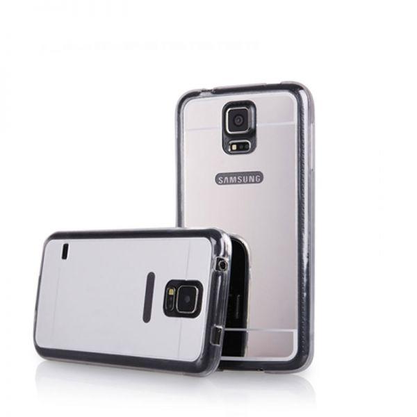 Futrola Ogledalo za Samsung i9600 S5, srebrna