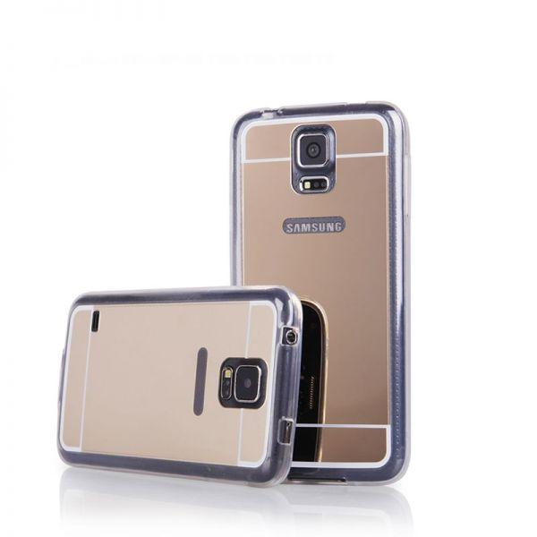 Futrola Ogledalo za Samsung i9600 S5, zlatna