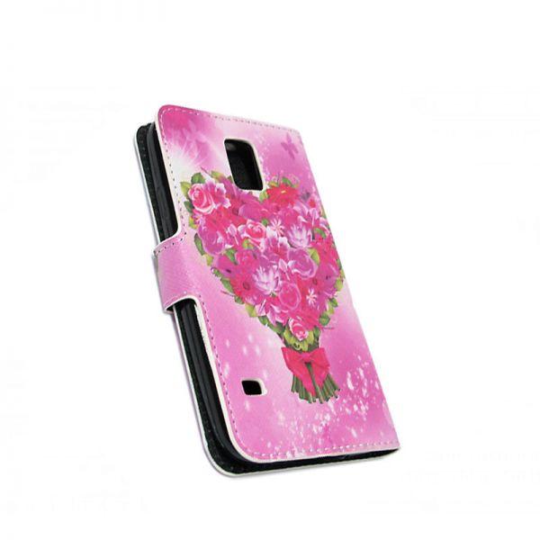 Futrola na preklop za Samsung i9600 S5, cvetna
