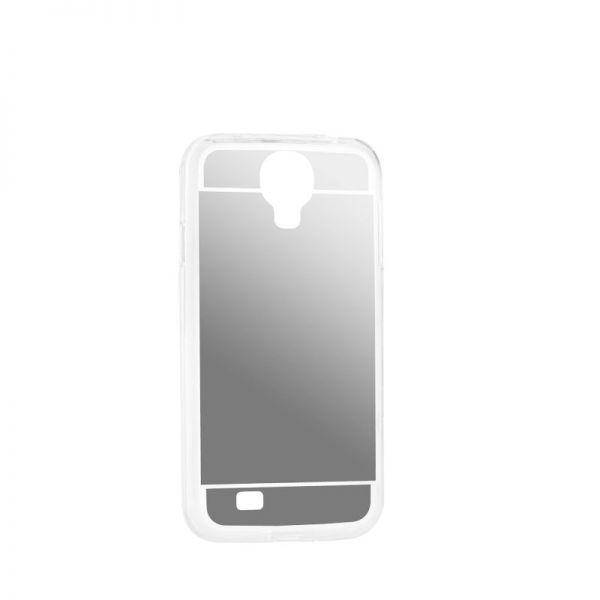 Futrola Ogledalo za Samsung i9500 S4, srebrna