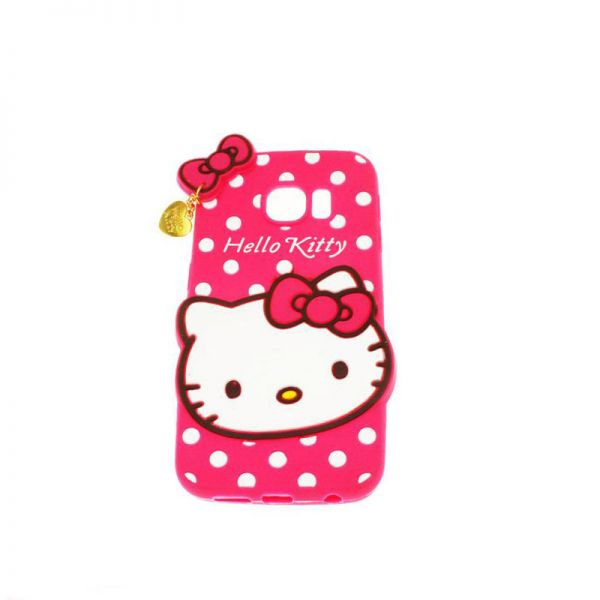 Futrola Gumena za Samsung G925 S6 edge Hello kitty, pink