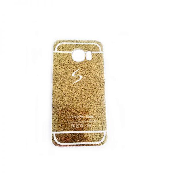 Futrola silikon Glitter logo za Samsung G925 S6 edge, zlatna
