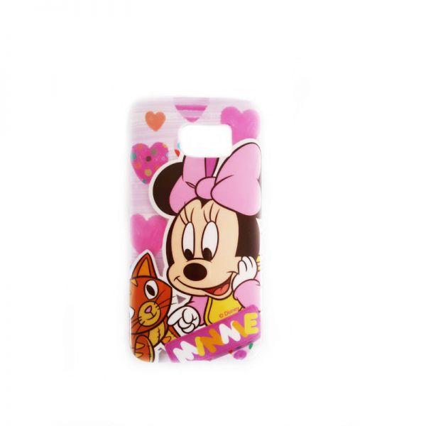 Futrola silikon Print za Samsung G925 S6 edge Minnie Mouse, pink