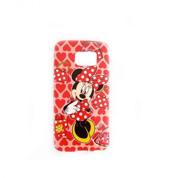 Futrola silikon Print za Samsung G925 S6 edge Minnie Mouse, crvena