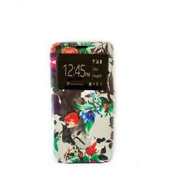 Futrola na preklop za Samsung G928 S6 edge plus, cvetna