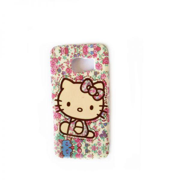 Futrola silikon Print za Samsung G920 S6 Hello Kitty cvetna
