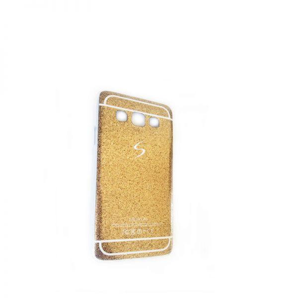 Futrola silikon Glitter logo za Samsung A300 A3, zlatna
