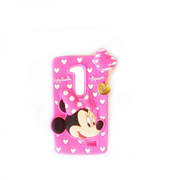 Futrola Gumena za LG L fino D295 Minnie Mouse, pink