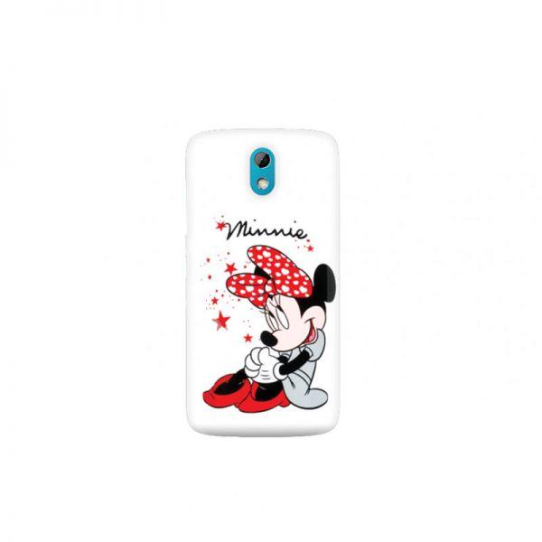 Futrola silikon Print za HTC Desire 526 Minnie Mouse, bela