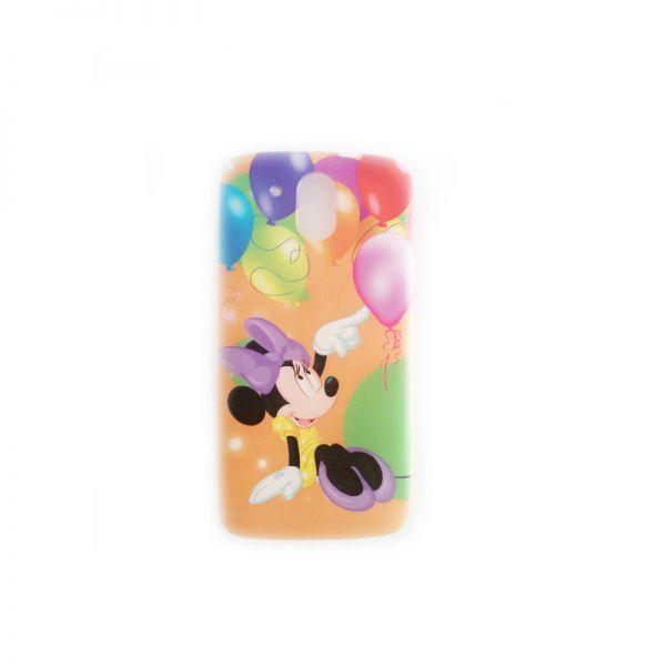 Futrola silikon Print za HTC Desire 526 Minnie Mouse, narandzasta