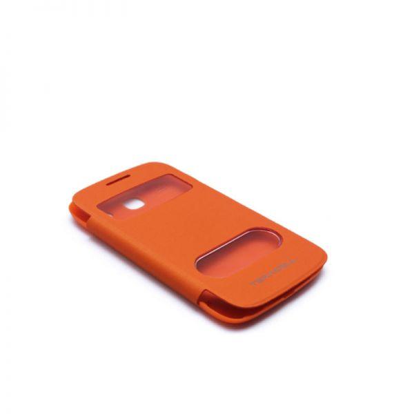Futrola na preklop sa prozorima za Samsung i8260/i8262 Core, narandzasta