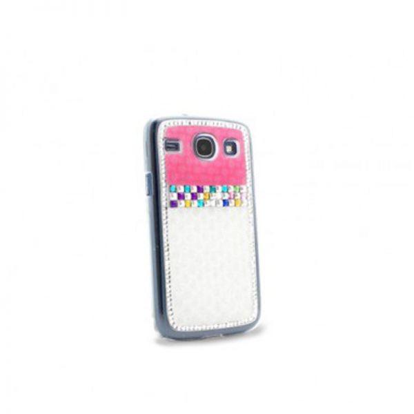 Futrola Diamond cirkon plastika za Samsung i8260/i8262 Core, bela