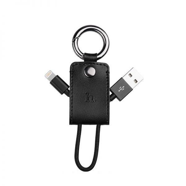 Hoco UPL19 iPhone Kabal privezak za ključeve, crni