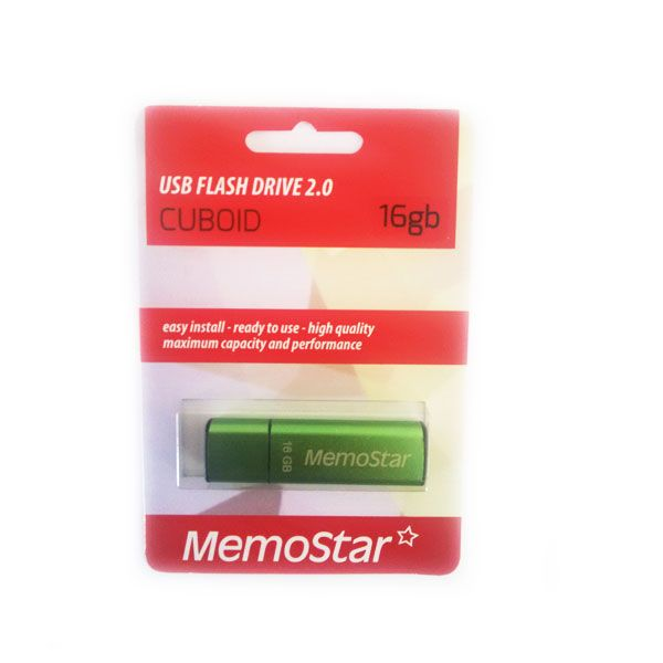 Usb Flash disk Memostar Cuboid 16Gb , zeleni