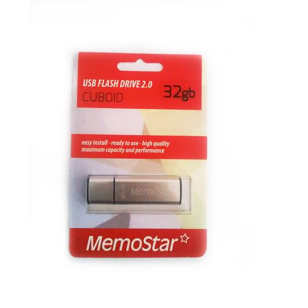 Usb Flash disk Memostar Cuboid 32GB, srebrni