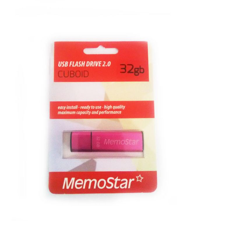 Usb Flash disk Memostar Cuboid 32GB, pink