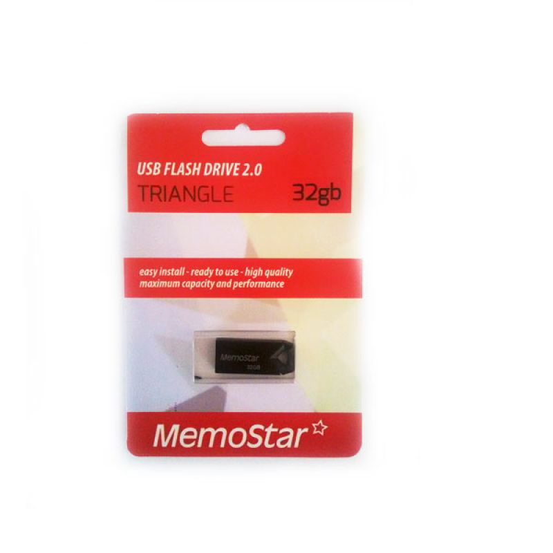 Usb Flash disk Memostar Triangle 32GB, crni