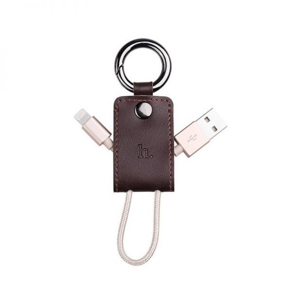 Hoco UPL19 iPhone Kabal privezak za ključeve, braon